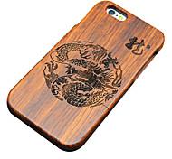 pêra madeira dragão chinês carving caso do iphone duro tampa traseira de proteção para iphone se 5s / iphone / iphone 5