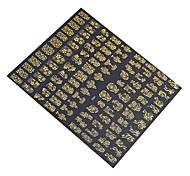 1x 108 PCS 3D Gold Flowers Nail Art Stickers Decals For  Nail Art Stickers