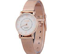 Women's Fashion Ultrathin Belt Rose Gold Quartz Simple Couple's Romance Time Rome Venation Watches