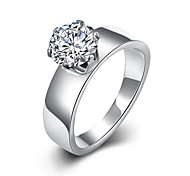 lureme® Stainless Steel Eternity Women Classic Simple Single Ring