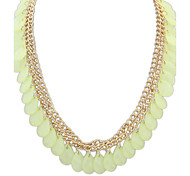Necklace Choker Necklaces Jewelry Party / Daily / Casual Fashionable Alloy / Resin Light Green / White / Blue 1pc Gift