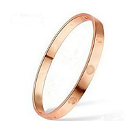 Very Good Sales Rose Gold Titanium Plus Steel Material Bracelet