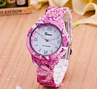 Women's New European Style Fashion Printing Leaves Wrist Watch