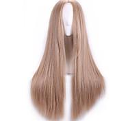 Natual блондинка Harajuku дешевые парики косплей Плутон синтетический парик женщин Лолита аниме косплей парик волос парики длинные прямые