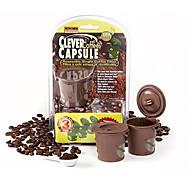 3Pcs/set 2016 Coffee Capsule Teapot Pieces Clever Coffee Capsule Reusable Single Filter Basket