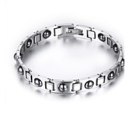 Bracelet Jewelry Health Care Silver Stainless Steel Magnetic Therapy Bracelet Chain Bracelet  for Men/Women Christmas Gifts