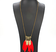 Women Fashion European And American Style Feather Necklace