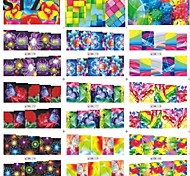 1pcs Include 12 Styles Nail Art Water Transfer Stickers Beautiful Flowers Butterfly Colorful Image Design BN169-180
