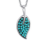 Women's Fashion Blue Cyrstal Steel Pendant for Necklace