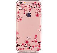 Назначение iPhone X iPhone 8 iPhone 6 iPhone 6 Plus Чехлы панели Прозрачный С узором Задняя крышка Кейс для Цветы Мягкий Термопластик для