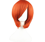 Cosplay Wigs One Piece Nami Orange Short Anime Cosplay Wigs 35 CM Heat Resistant Fiber Male / Female