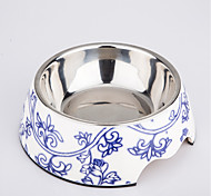 Classic Blue and White Procelain Design Pet Bowl Dogs and Cats