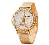 Women's Fashion Watch Simulated Diamond Watch Casual Watch Imitation Diamond Quartz Alloy Band Silver Gold
