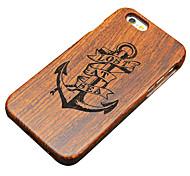pera di legno disperso in mare ancora intaglio protettiva copertura posteriore della cassa duro per iphone iphone 5s / iphone SE / iphone