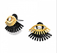 3 Colors Fashion Design Crystal Lash Eyes Stud Earrings gift  For Women girl Fine Jewelry brincos