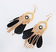 Earring Drop Earrings Jewelry Women Fashion / Bohemia Style Party / Daily / Casual 1 pair Light Blue / Black / Red