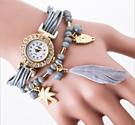 Leisure Trend Quartz Watch Ms Han Edition Student Cord Feather Fashion Bracelet Watches