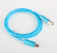 aluminium lumière flash usb 2.0 chargeur câble cordon samsung amartphone android câble général (0,25 m)