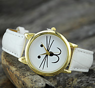 Women's European Style Fashion Cute Cat  Round Wrist Watch