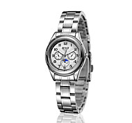Women's Fashion Watch Quartz Casual Watch Stainless Steel Band Silver