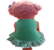 Dog Dress Green / Yellow Summer Snowflake Fashion