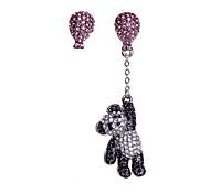 Korean Sparkling Diamond Earrings Panda Tassel