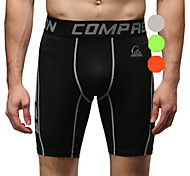 Vansydical Men's Quick Dry Fitness Bottoms Green / Gray / Orange