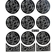 Nail Art Template Sticker-(NF315-Black)