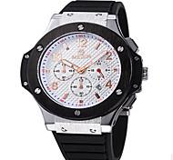 Masculino Relógio Elegante Quartz Relógio Casual Silicone Banda Preta marca