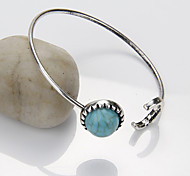 European Style Bohemian Retro Fashion Imitation Turquoise Exquisite Moon Bangles Christmas Gifts