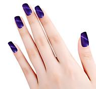 sioux œil de chat violet paillettes 6ml colle à ongles vernis à ongles pour 2 ans