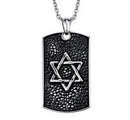 Men's Fashion Punk Style Star Tag Pendant for Necklace