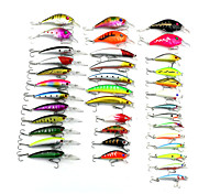 Hot Selling  Mixed 5 Items Plastic Minnow And Crankbait 37pcs/Set Fishing Lures Random Colors