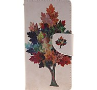Tree Color Card Holder Wallet PU Leather Phone Case for Huawei P9/P9lite
