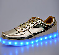 Men's Shoes Outdoor / Athletic / Casual PU Fashion Sneakers Black / WhiteLED  shoes