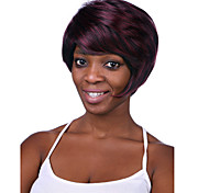 Europe And The United States The New Wine Red Color Mixture Natural Senile Wigs 2 Inch