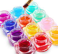 Mischfarbe 12pcs reine Farbe UVerbauer Gel UV Gel Farblack-Set Nagelkunstdekoration (8 ml)