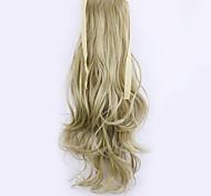 longitud 50 cm de lino fábrica de la venta directa de tipo cola de caballo se unen rizo de pelo cola de caballo (color 16/613)