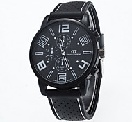 Hombre Reloj de Pulsera Cuarzo Silicona Banda Negro Marca-