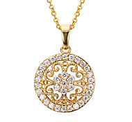 Women's Fashion Sparkle Sunflower Style Pendant for Necklace