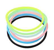 Transparente Higiénico elástico de la goma del pelo (color al azar)