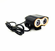 Aluminum alloy Bike Lights / Headlamps LED Waterproof / Rechargeable / Emergency 4 Mode 5000 Lumens  Cree XM-L T6