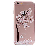 For iPhone 6 Case / iPhone 6 Plus Case Ultra-thin / Translucent / Pattern Case Back Cover Case Flower Soft TPU for iPhone 6s Plus/6 Plus