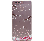 TPU Material Color Plum Flower Pattern Soft Phone Case for Huawei P9/P9 Lite