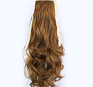 comprimento borwn 50 centímetros venda direta da fábrica ligamento tipo de cabelo rabo de cavalo rabo de cavalo de onda (cor 27-A)