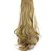 longitud 50 cm borwn fábrica de la venta directa de tipo cola de caballo se unen rizo de pelo cola de caballo (color 27x)