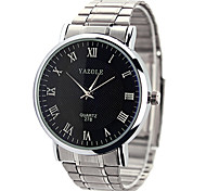 YAZOLE® Women's Dress Watch Quartz Casual Watch Stainless Steel Band Silver Brand