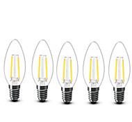 2W E14 LED Candle Lights C35 2 COB 200 lm Warm White Decorative AC 220-240 V 5 pcs