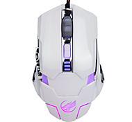 lobo guerra 6d com fio mouse para jogos 3200dpi programável luz respiração retroiluminado para lol / cf / dota