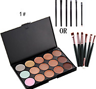 15 Concealer/Contour Dry Cream Long Lasting / Concealer / Natural Eyes / Face Multi-color china other